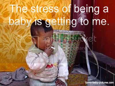 funny picture of baby smoking a cigarette